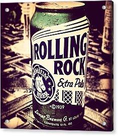 Rolling Rock. #american #beer Acrylic Print