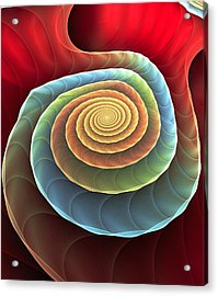 Acrylic Print featuring the digital art Rolling Spiral by Anastasiya Malakhova