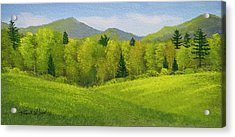 Acrylic Print featuring the painting Rolling Spring Pastures  by Frank Wilson
