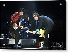 Rolling Stones Ron Wood Keith Richards Painting Acrylic Print