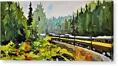 Rolling Thru The North Country Acrylic Print by Spencer Meagher