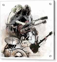 Rolling Thunder Led Zeppelin Acrylic Print by Iconic Images Art Gallery David Pucciarelli