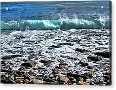 Rolling Wave On The Coast Of Maine Acrylic Print