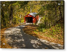 Rollingstone Covered Bridge  Acrylic Print by Jack R Perry