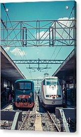 Roma Termini Railway Station Acrylic Print by Edward Fielding