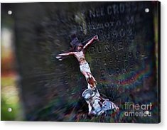Roman And Crucifix Acrylic Print by Susan Isakson