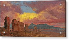 Roman Aqueduct Acrylic Print by Jervis McEntee
