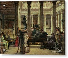 Roman Art Lover Acrylic Print by Sir Lawrence Alma-Tadema
