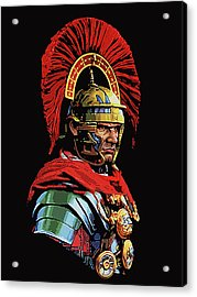 Roman Centurion Portrait Acrylic Print