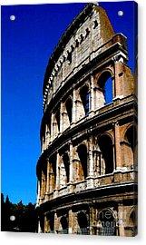 Roman Coliseum By Day Acrylic Print by Alberta Brown Buller