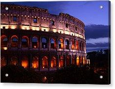 Roman Colosseum At Night Acrylic Print by Warren Home Decor