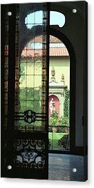 Acrylic Print featuring the photograph Roman Courtyard View by Carol Kinkead