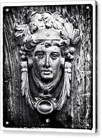Roman Door Knocker Acrylic Print by John Rizzuto