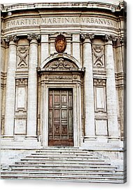 Acrylic Print featuring the photograph Roman Doors - Door Photography - Rome, Italy by Melanie Alexandra Price