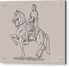 Roman Emperor Riding Horse Acrylic Print by Aloysius Patrimonio