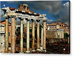 Acrylic Print featuring the photograph Roman Forum by Harry Spitz