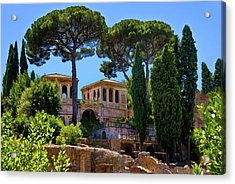 Acrylic Print featuring the photograph Roman Forum Hillside  by Harry Spitz