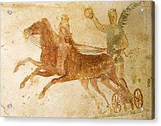 Roman Fresco, Ostia Antica Acrylic Print by Sheila Terry