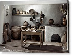Roman Kitchen, 100 A.d Acrylic Print by Granger