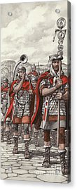 Roman Legions Marching Behind Their Standard Acrylic Print by Pat Nicolle