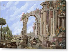 Roman Ruins Acrylic Print by Guido Borelli
