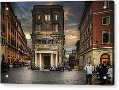 Acrylic Print featuring the photograph Roman Streets by Ryan Wyckoff