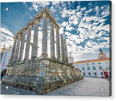 Roman Temple At Evora Acrylic Print