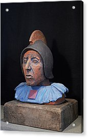 Roman Warrior Roemer - Roemer Nettersheim Eifel - Military Of Ancient Rome - Bust - Romeinen Acrylic Print by Urft Valley Art