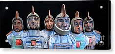 Roman Warriors - Bust Sculpture - Roemer - Romeinen - Antichi Romani - Romains - Romarere Acrylic Print by Urft Valley Art