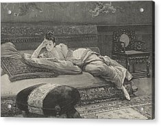 Romance And Repose Acrylic Print by English School