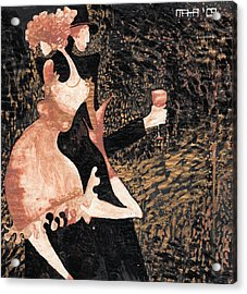 Acrylic Print featuring the painting Romance De Paris by Maya Manolova