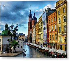 Romance In Krakow Acrylic Print by Kasia Bitner