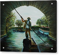 Acrylic Print featuring the painting Romance by Itzhak Richter