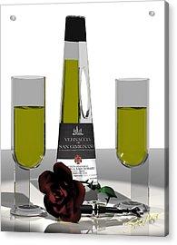 Romance Italian Contemporary Wine Acrylic Print