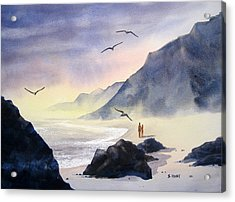 Romance Of The Cormorants Acrylic Print by Shirley Braithwaite Hunt