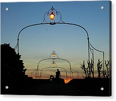 Romance On The Old Lantern Bridge Acrylic Print