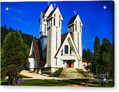 Romanian Church Acrylic Print by Rick Bragan