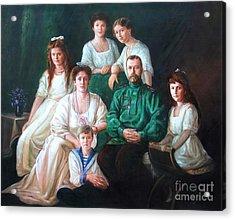 Romanov Family Portrait Acrylic Print by George Alexander