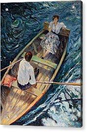 Dordogne , Beynac-et-cazenac , France ,romantic Boat Trip Acrylic Print