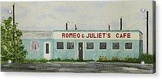 Romantic Cafe Acrylic Print