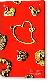 Romantic Heart Decorations Acrylic Print