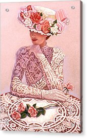 Romantic Lady Acrylic Print