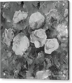 Acrylic Print featuring the painting Romantic Large Roses  by Robin Maria Pedrero