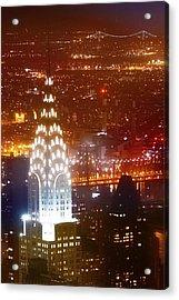 Romantic Manhattan Acrylic Print by Az Jackson