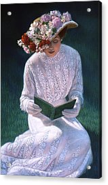 Acrylic Print featuring the painting Romantic Novel by Sue Halstenberg