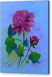 Romantic Peoni Acrylic Print by Micheal Giddens