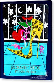 Acrylic Print featuring the painting Romantic Shoe by Don Pedro De Gracia