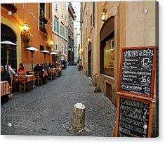 Romantic Streetside Cafe Acrylic Print