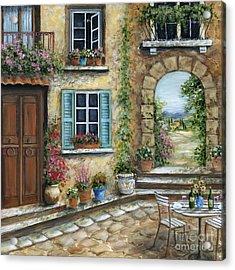 Romantic Tuscan Courtyard II Acrylic Print