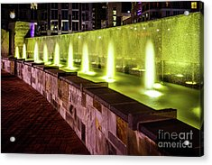 Romare Bearden Park Fountain In Charlotte Nc Acrylic Print by Paul Velgos